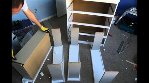 IKEA Malm Chest of Drawers assembly time-lapse - YouTube