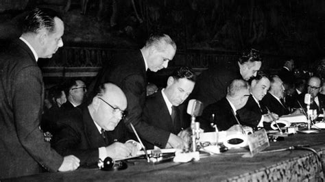March 25, 1957: Six European nations sign historic