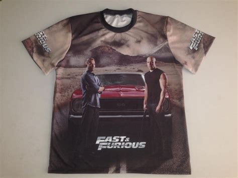Fast and Furious t-shirt with logo and all-over printed