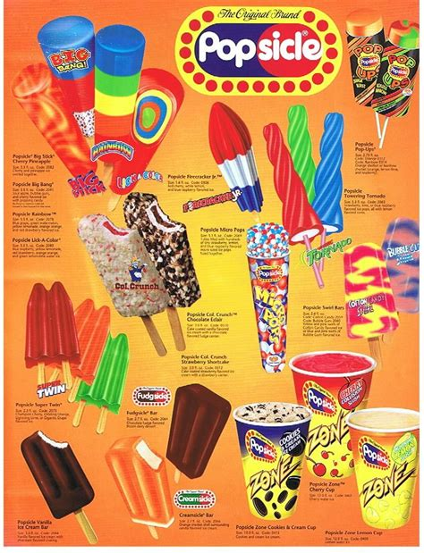 A rainbow of Popsicle products