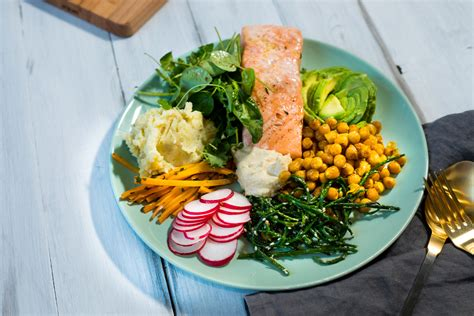 Buddha Bowl mit Lachs - The Mind of a Pineapple