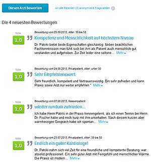Notice-and-takedown bei rechtswidriger Arztbewertung in