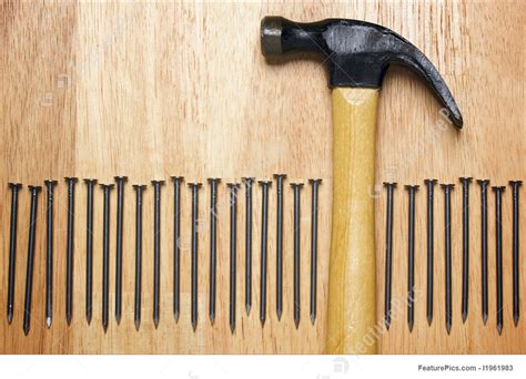 Picture Of Hammer And Nails Abstract