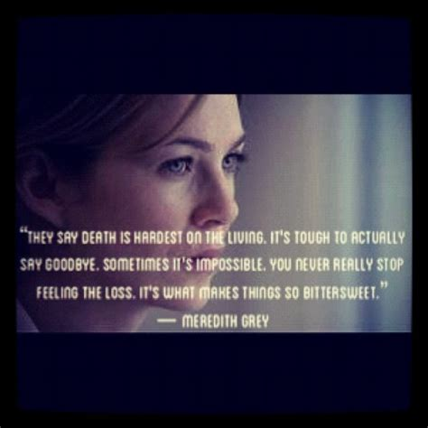 Meredith Grey Quotes About Death